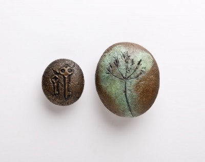 Two-bronze-pebbles--low-res-copyright-Colin-Hawkins-2012.